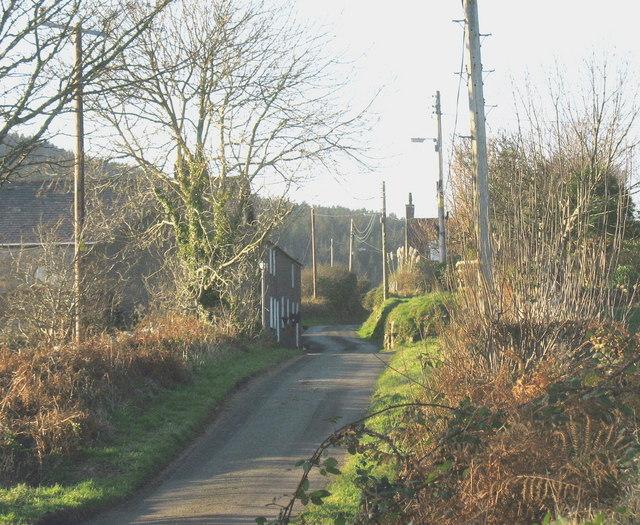 Entering the hamlet of Mynydd Nefyn
