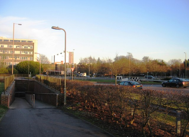 Victory roundabout as seen from northside cycle path