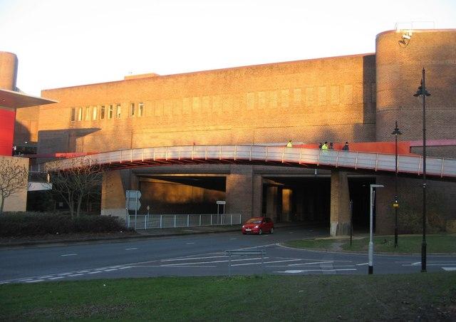 Footbridge over Churchill Way