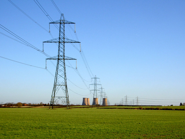 Pylons marching on to the now defunct High Marnham power station