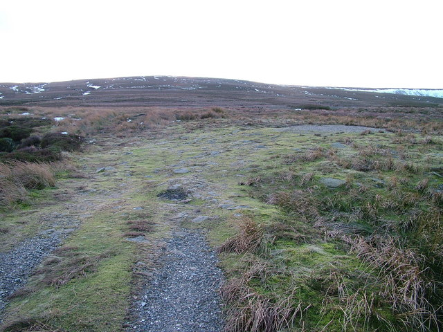 End of the track on Arkengarthdale Moor