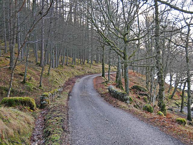 South Loch Earn road near Creagan Breac