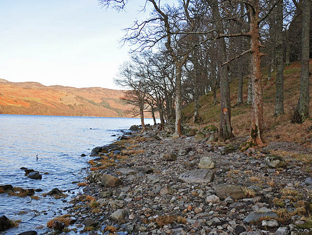 Southern shore of Loch Earn near Creagan Breac