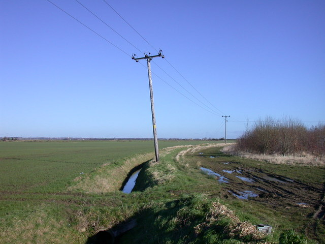 Track, ditch and wires