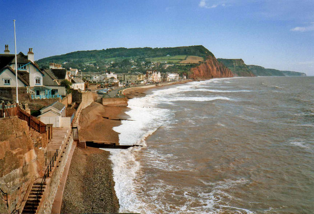 Sidmouth from top of Jacob's Ladder walkway