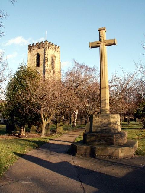 Entrance to Darton All Saints Churchyard