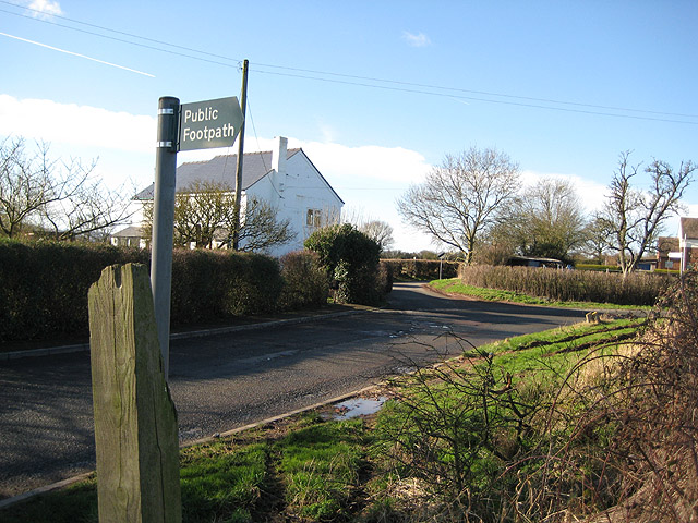 Road junction north of Staunton