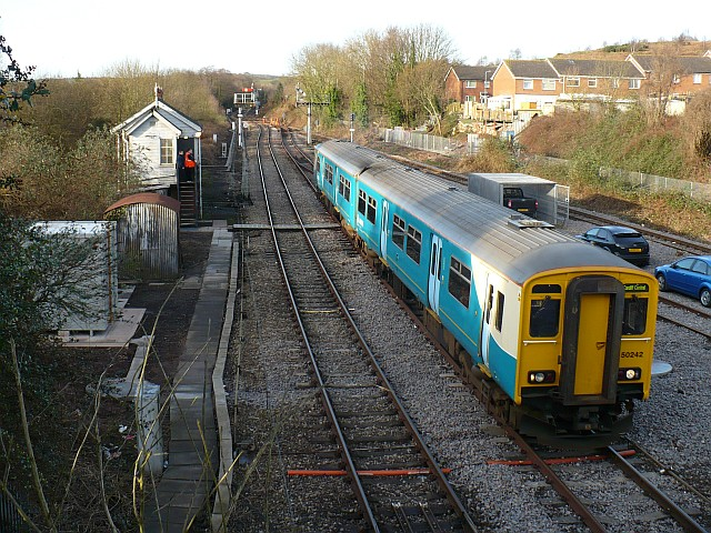 Passenger train at Park Junction