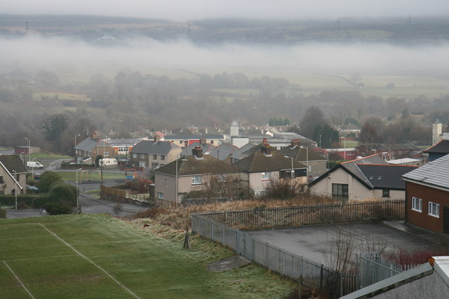 Misty Penywaun landscape.