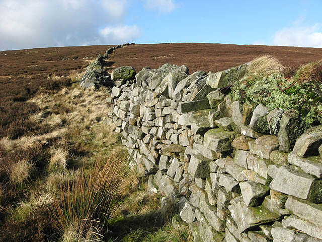 A moorland drystone wall