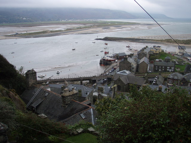 Barmouth harbour from The Rock