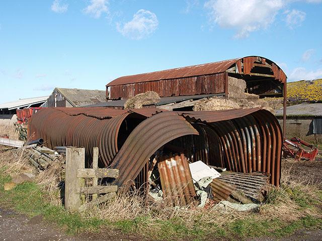Corrugated storage shed