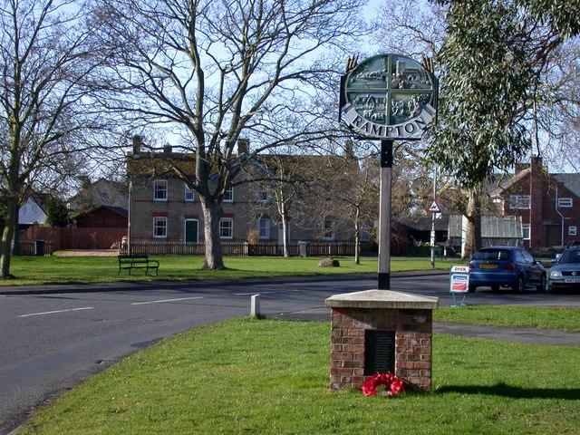 Rampton Village Sign