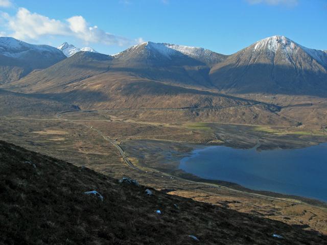 Head of Loch Ainort from Glas Bheinn Mhor