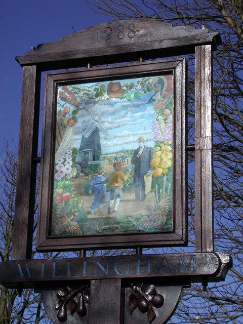 Willingham Village Sign - detail