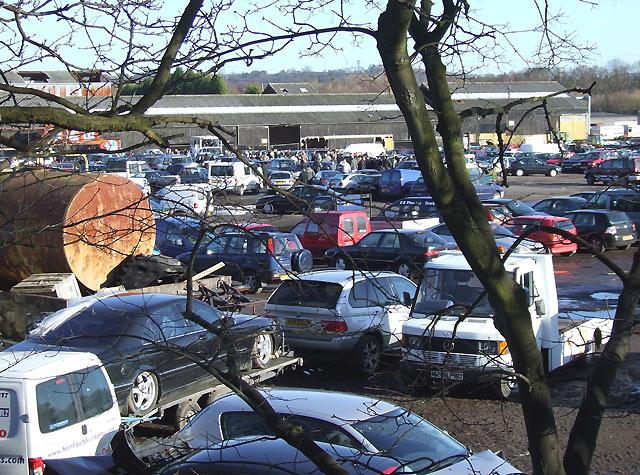 Car Auction in Progress, Smestow Bridge, Staffordshire