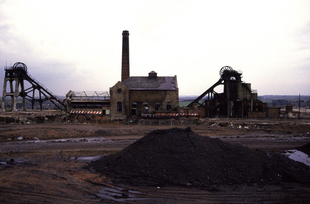 Pleasley Colliery - abandoned and part demolished