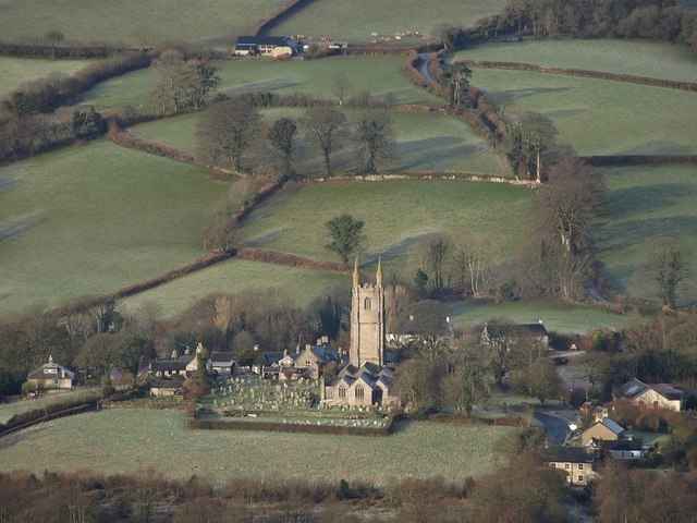 Widecombe from Bonehill Down