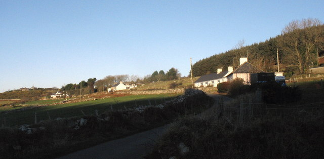 Cottages on the slopes of Mynydd Nefyn