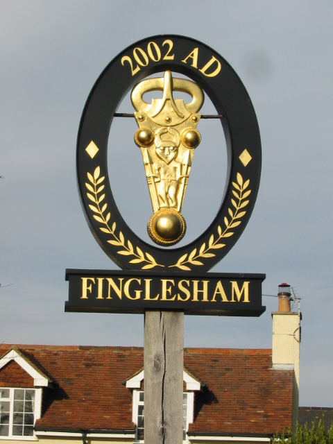 Finglesham village sign