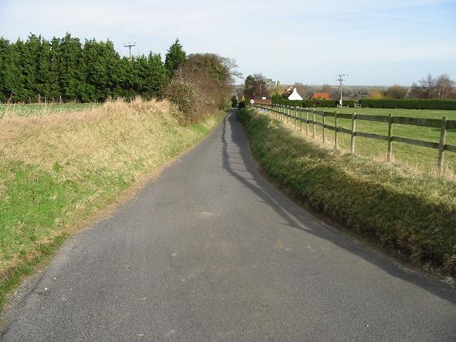 Looking NE along Marley Lane