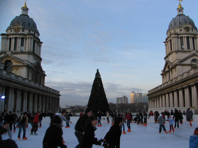 The Xmas Ice Skating Rink, Old Royal Naval College