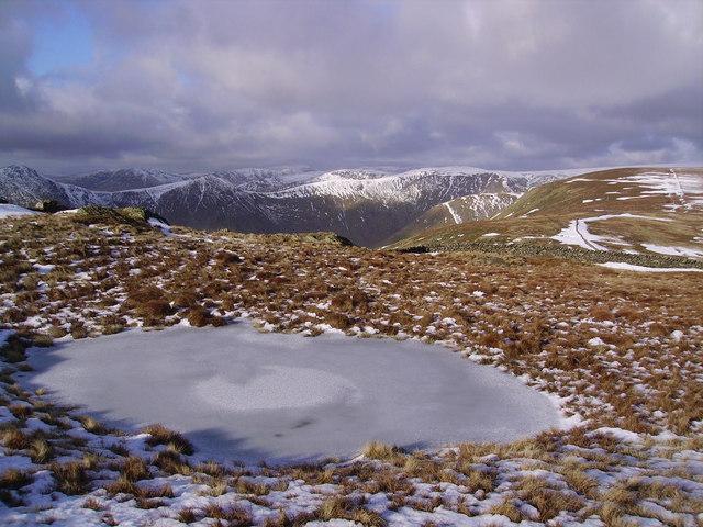Frozen Tarn, Kentmere Pike