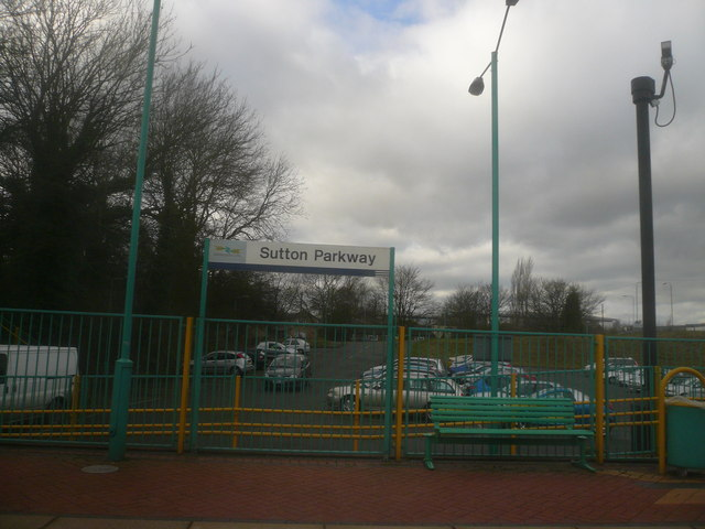 Sutton Parkway - View of Station Car Park