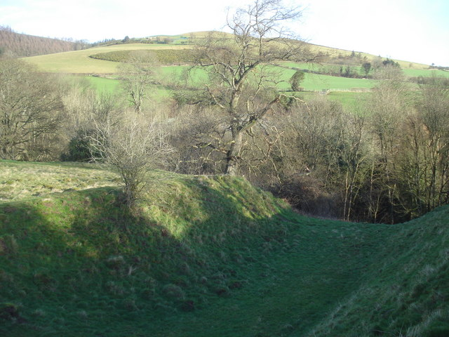 Radnor Castle ditch
