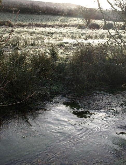 East Webburn River and frosty meadow