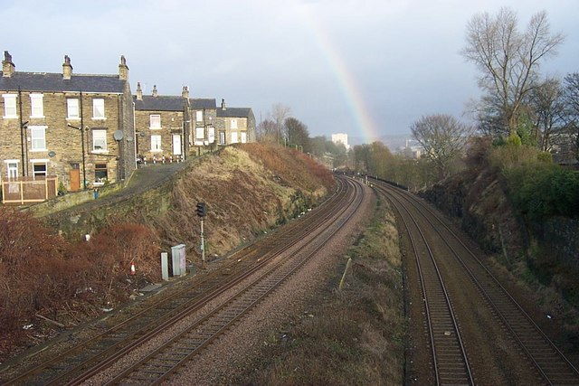 Railway Lines to Halifax at Crossley Hill