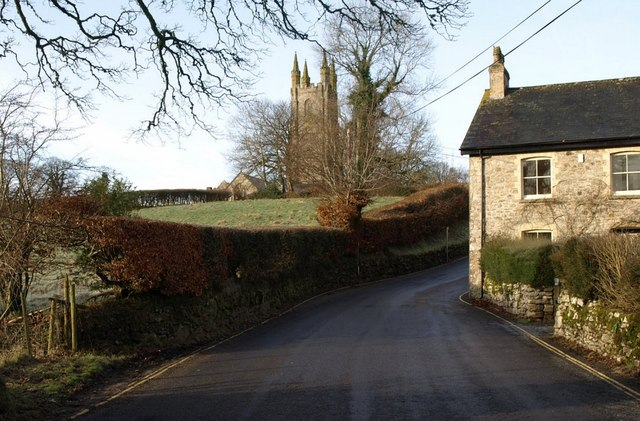 Lane past Mill House, Widecombe