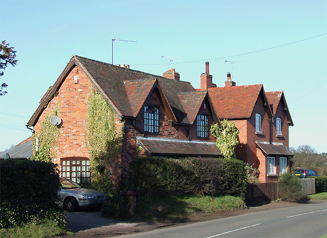 Cottages near Enville, Staffordshire