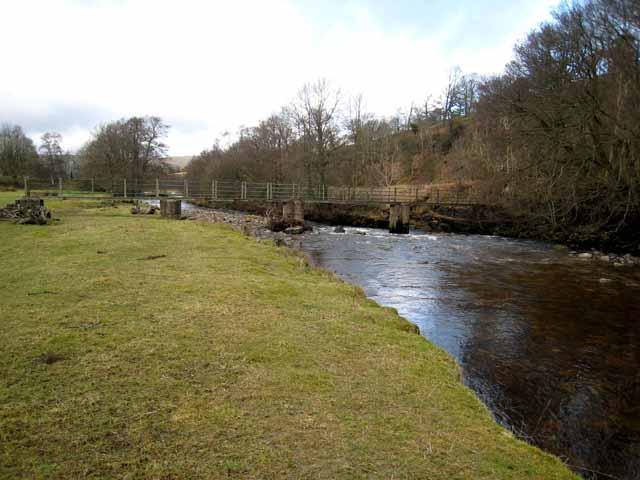Footbridge on the Pennine Way