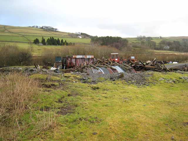 Rural scrapyard near Garrigill