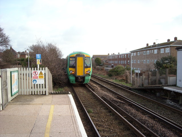 Leaving Collington Station eastwards.