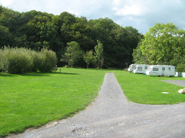The caravan site at Seiont Garden Centre