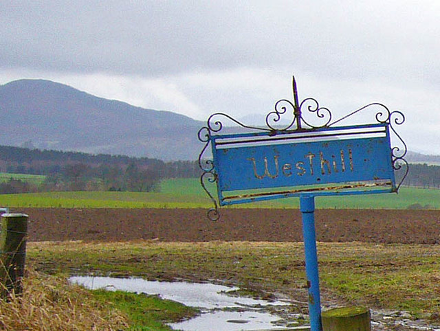 Sign at Westhill