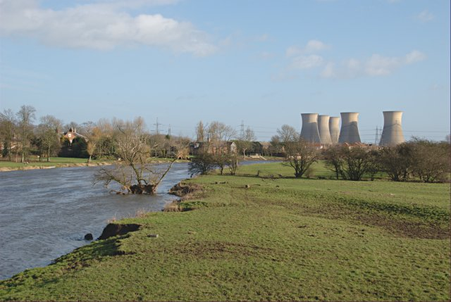 Trent floodplain east of Willington Bridge