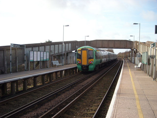 Leaving Collington Station westwards, Bexhill-on-Sea