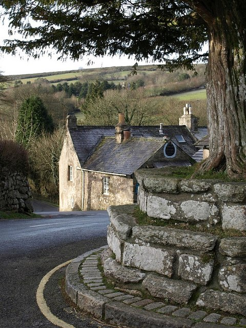 Cross Tree and Post Office, Widecombe