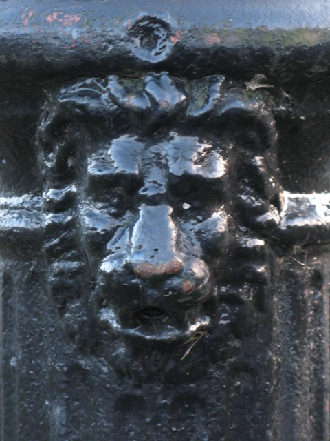 The lion on the water fountain at Bridge End