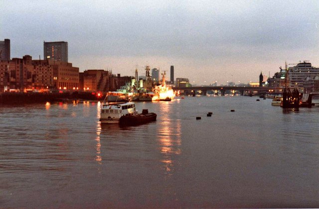 River Thames with HMS Belfast, London