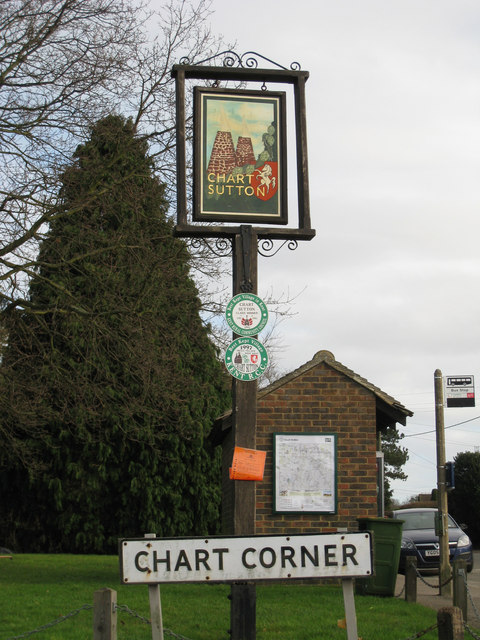Chart Sutton village sign