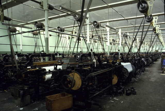 Weaving shed, Queen Street Mill
