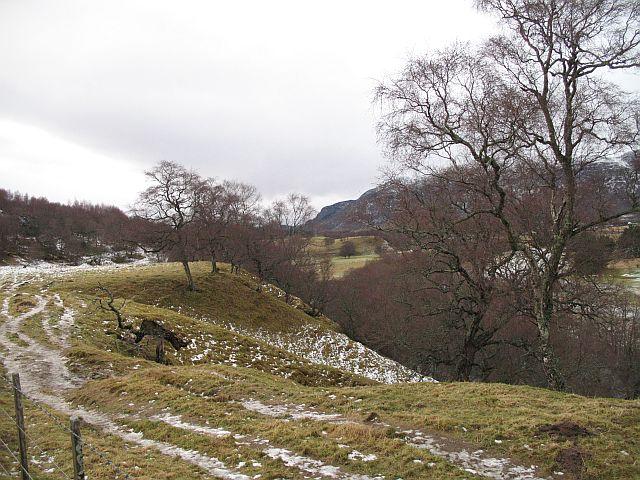 Farmland above the Spey