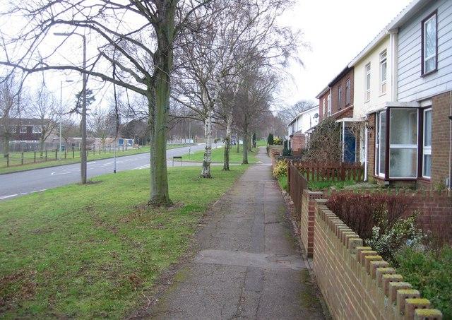 Winklebury Way - looking west