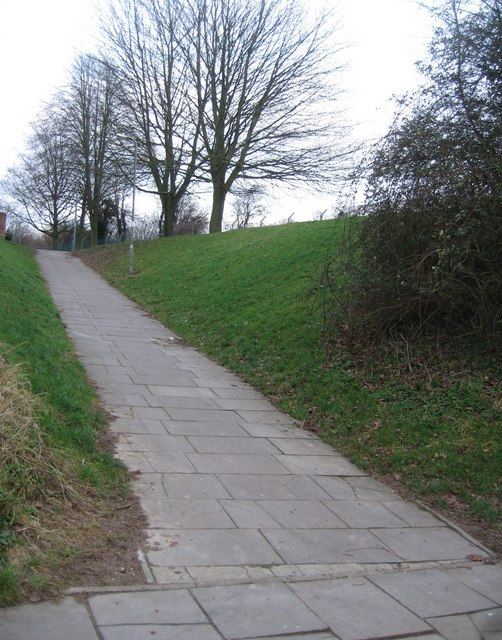 Cycle ramp heading towards Winklebury playing fields