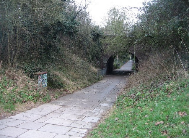 Green Way passes under the railway