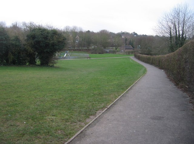 Footpath beside the golf club